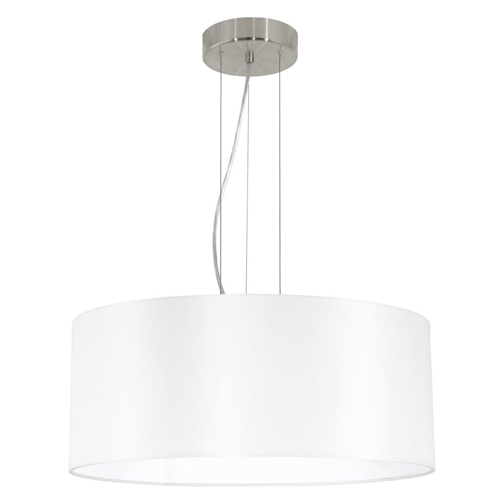 Eglo 31604 Maserlo Large White Fabric Pendant Light