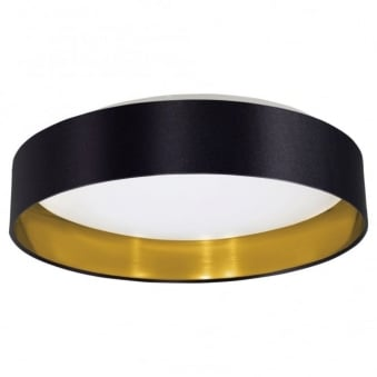 Maserlo LED Black and Gold Round Ceiling Light