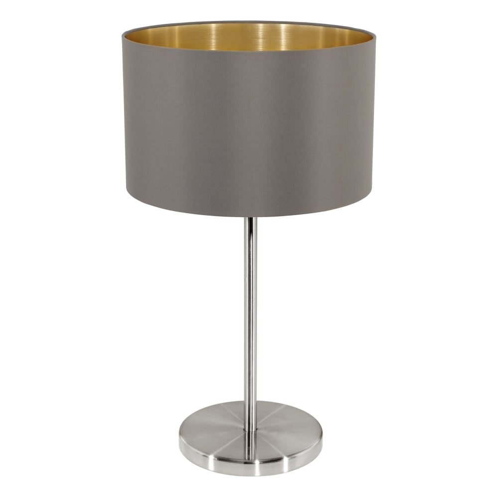 Exceptional Maserlo Table Lamp With A Cappucino And Gold Shade