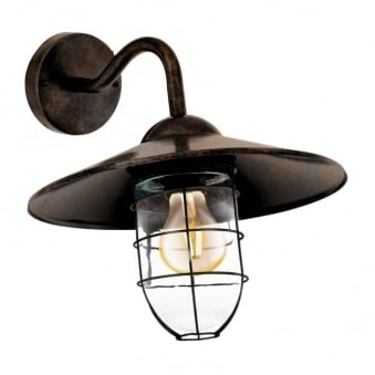 Melgoa Galvanised Steel IP44 Exterior Light in Antique Copper