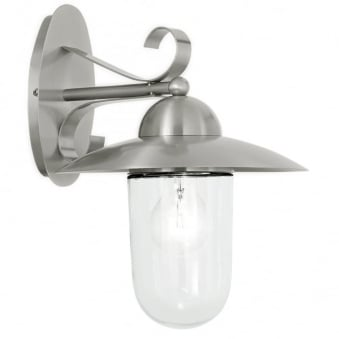 Milton Outdoor IP44 Stainless Steel Wall Light