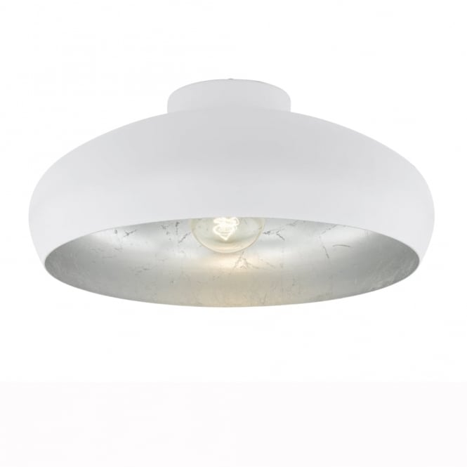 Eglo Mogano White and Silver Ceiling Light