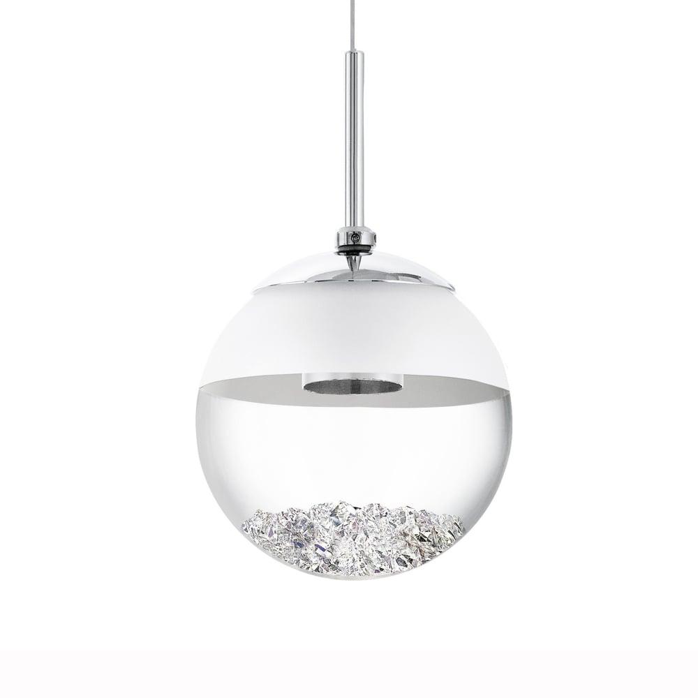 Montefio 1 LED Crystal Globe Pendant Light