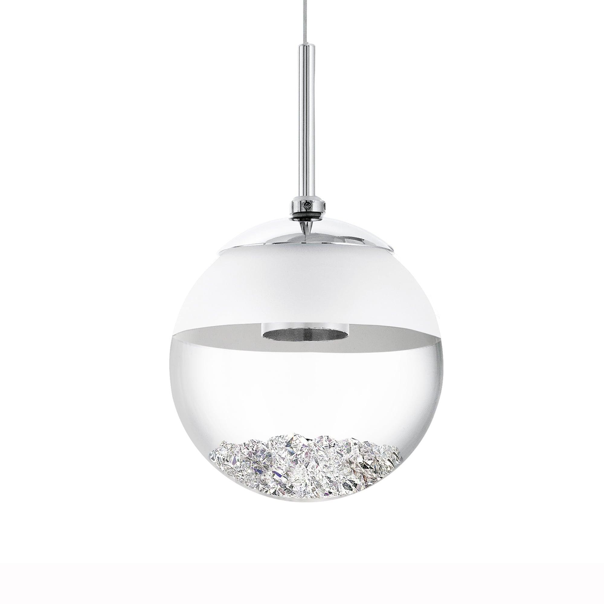 Image of: Eglo 93708 Montefio 1 Led Crystal Globe Pendant Light