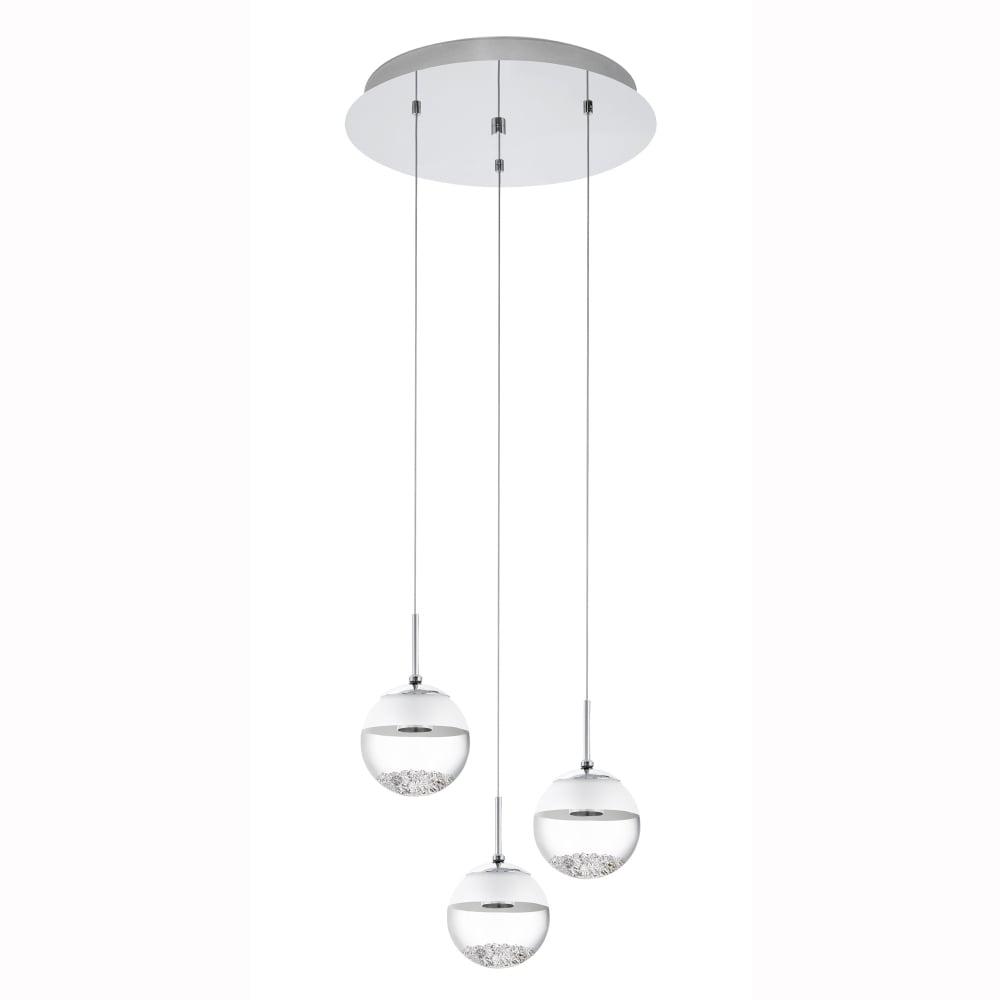 eglo 93709 montefio 1 led crystal triple glass globe. Black Bedroom Furniture Sets. Home Design Ideas