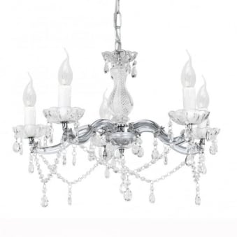 Mozart 1 Chrome and Acrylic Chandelier