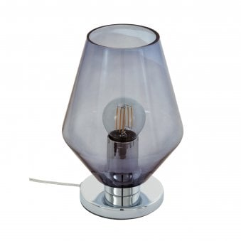 Murmillo Smoked Glass Switched Table Lamp