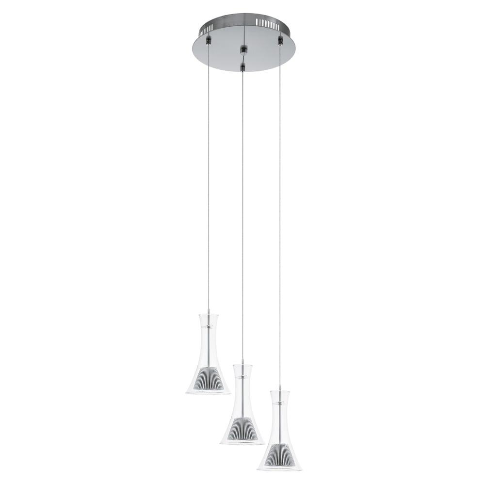 round pendant lighting. Musero LED Clear Glass Triple Round Pendant Light Lighting H