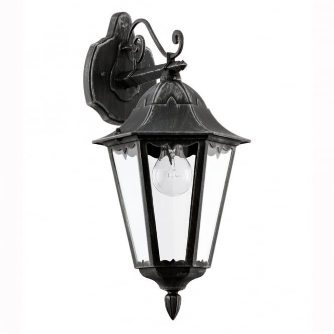 Eglo Navedo Black IP44 Exterior Cast Aluminium Down Wall Light