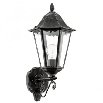 Navedo Black IP44 Exterior Cast Aluminium Up Wall Light