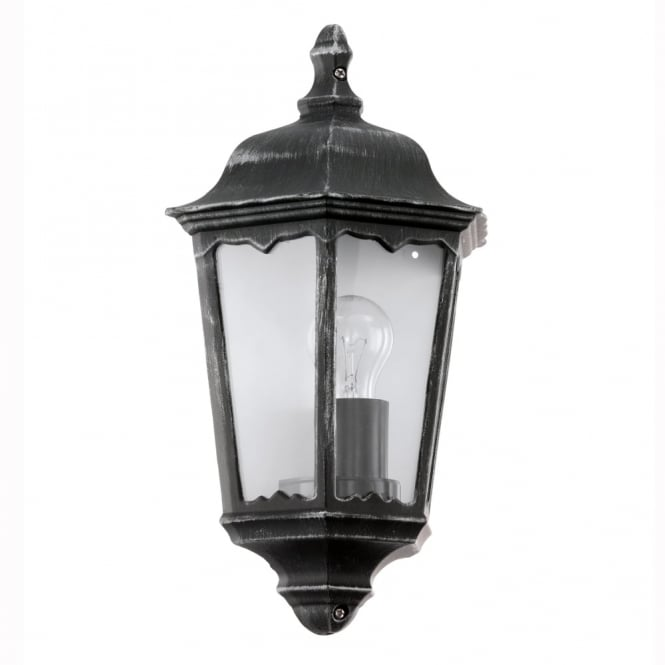 Eglo Navedo Black IP44 Exterior Cast Aluminium Wall Light