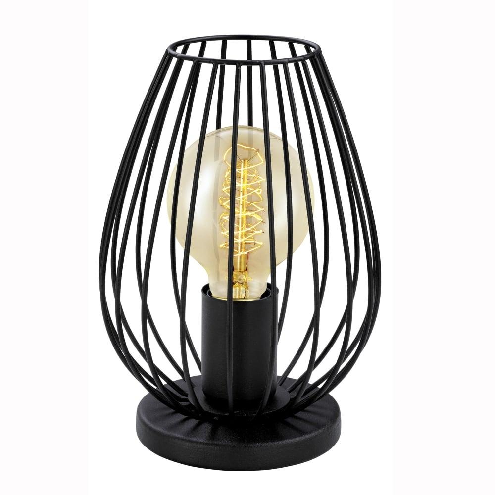 Eglo 49481 Newtown Black Vintage Cage Table Lamp