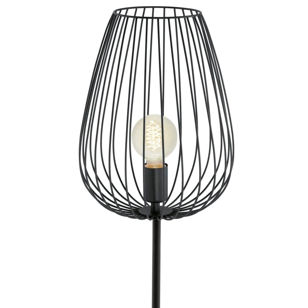 Eglo 49474 newtown cage floor lamp in black newtown cage floor lamp in black aloadofball Images