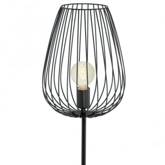 Newtown Cage Floor Lamp in Black