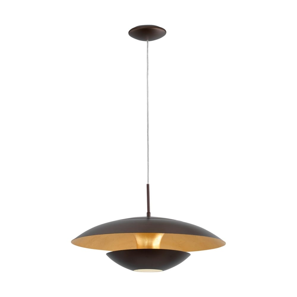 Eglo 95755 nuvano pendant light in gold and brown nuvano pendant light in gold and brown aloadofball Choice Image