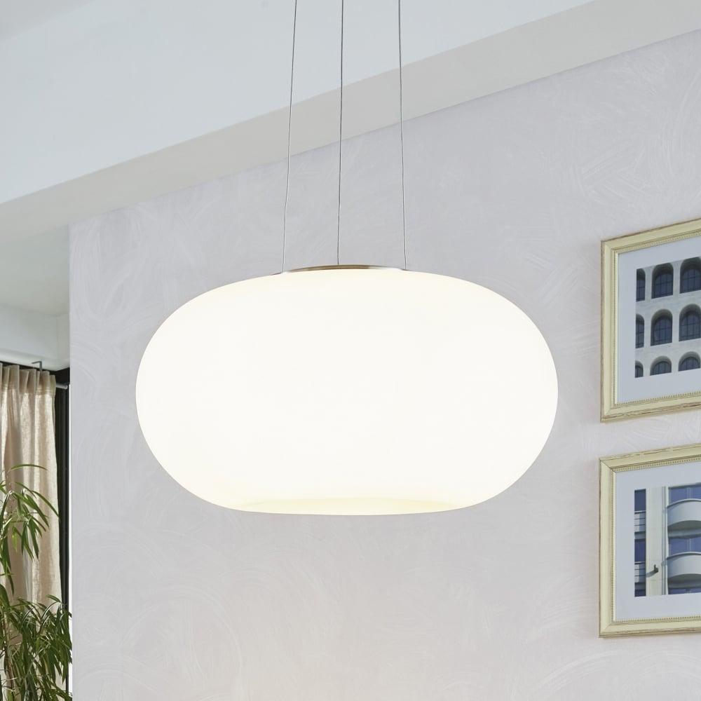 glass globe pendant lighting. Optica Medium Opal White Glass Globe Pendant Lighting