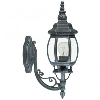 Outdoor Classic Black and Green Up Lantern Wall light