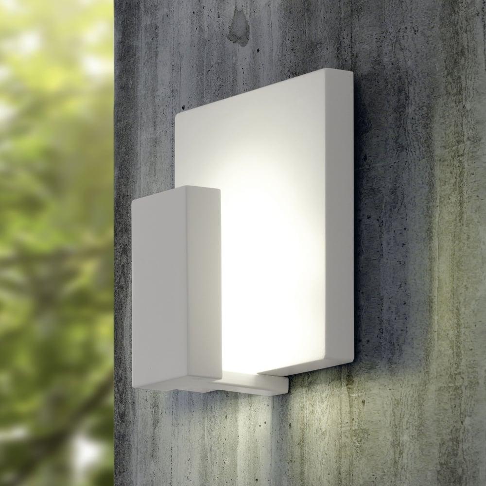 Eglo 93317 Pardela White Exterior Ip44 Led Wall Light