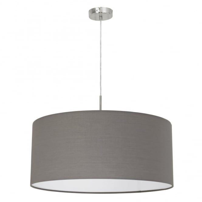 Eglo Pasteri Large Anthracite Brown Fabric Pendant