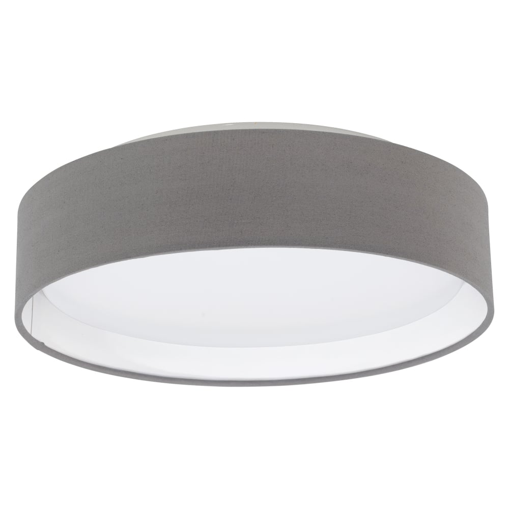 Eglo 31593 pasteri led anthracite brown fabric flush ceiling light pasteri led anthracite brown fabric flush ceiling light aloadofball Image collections