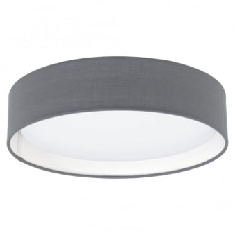 Pasteri LED Grey Fabric Ceiling Light