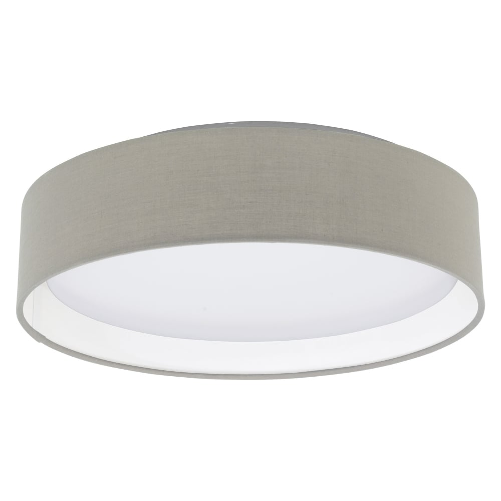 eglo 31589 pasteri led taupe fabric ceiling light. Black Bedroom Furniture Sets. Home Design Ideas