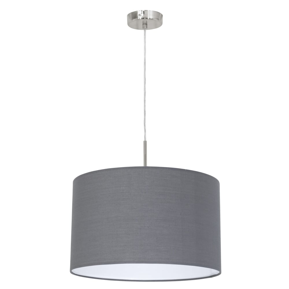 Pasteri Small Grey and White Pendant Light  sc 1 st  Dusk Lighting & Eglo 31573 Pasteri Small Grey and White Pendant Light