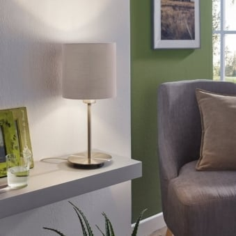 Pasteri Table Lamp with a Anthracite Brown Shade