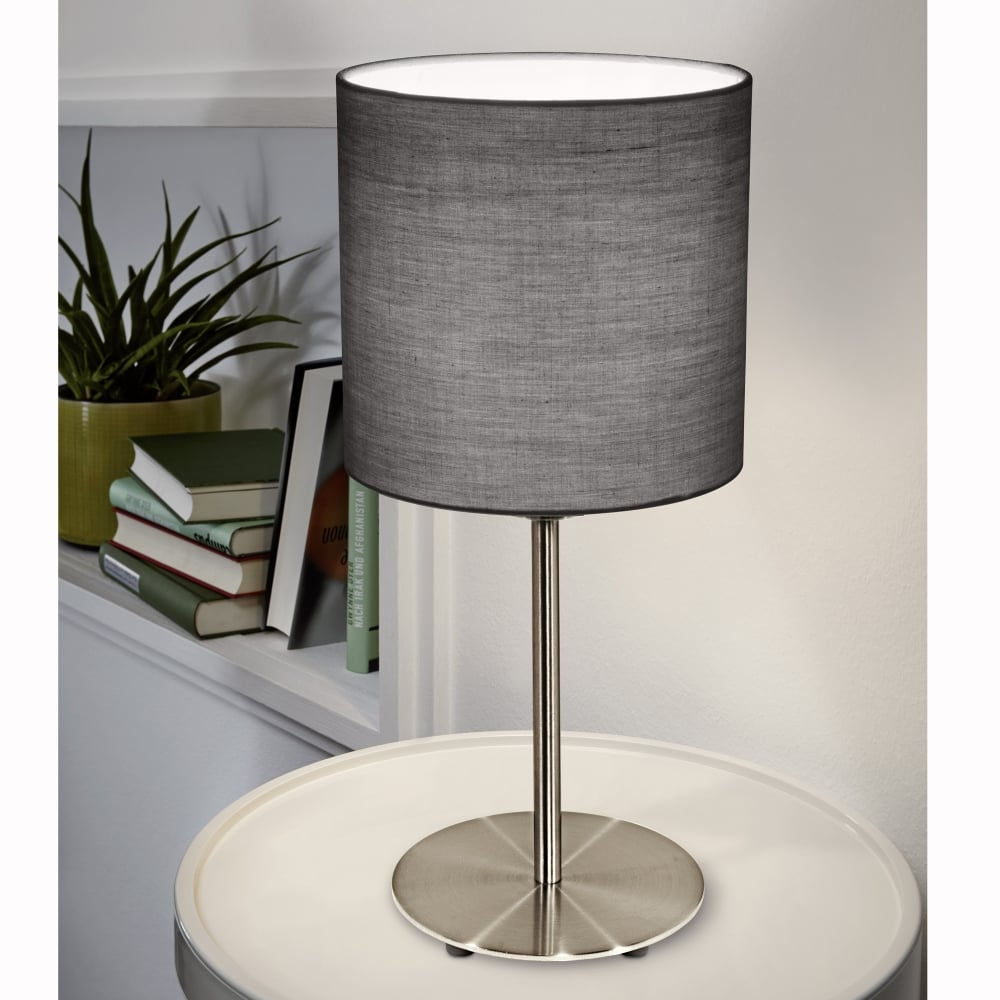 Superior Pasteri Table Lamp With A Anthracite Brown Shade