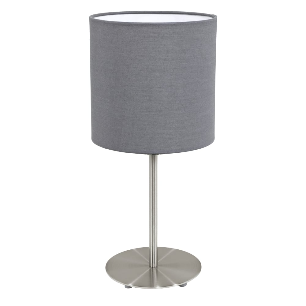 Eglo 31596 Pasteri Table Lamp With A Grey Shade