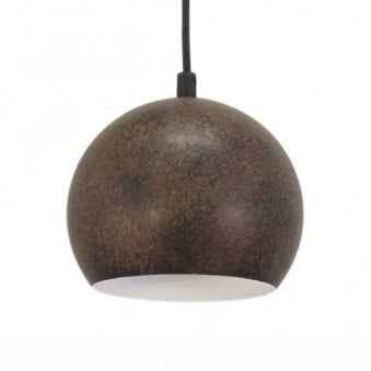 Petto 3 Rust Coloured Globe Pendant