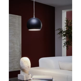Petto LED Pendant Finished in Black