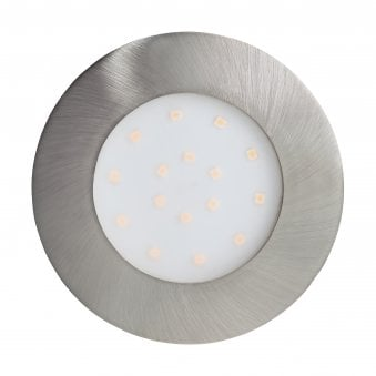 Pineda-IP IP44 Large Outdoor Recessed LED Ceiling Light in Satin Nickel