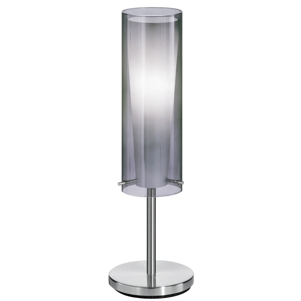Eglo 90309 pinto nero floor lamp with transparent black glass shade pinto nero table lamp with transparent black glass shade aloadofball Gallery