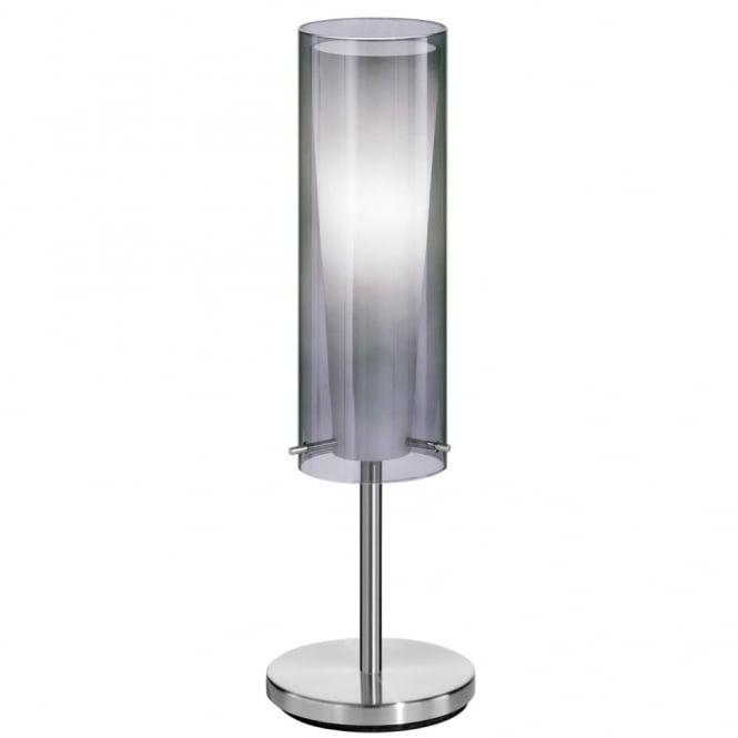 Eglo Pinto Nero Table Lamp with Transparent Black Glass Shade