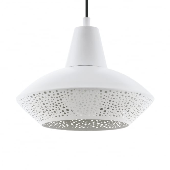 Eglo Piondro White Steel Pendant Light