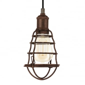 Port Seton Antique Brown Single Pendant