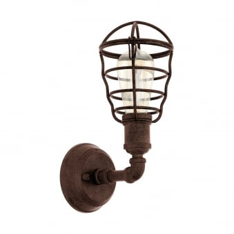 Port Seton Antique Brown Wall Light