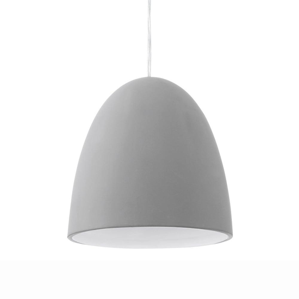 Pratella Bell Shaped Ceramic Pendant Light In Grey