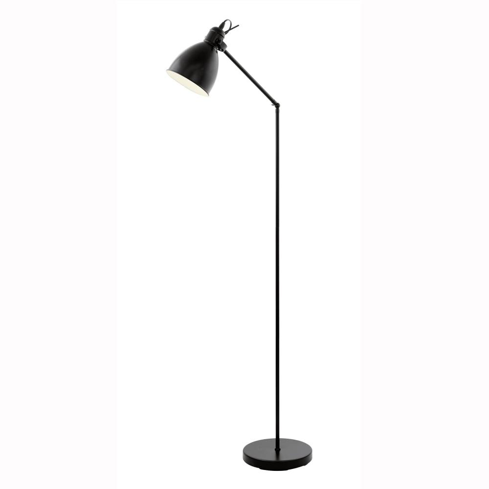 Eglo 49471 Priddy 1 Floor Lamp In Black
