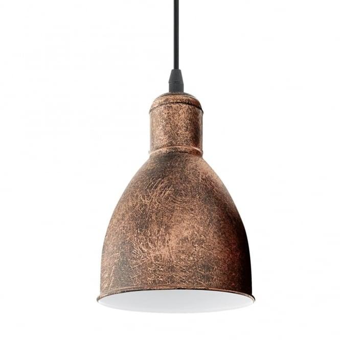 Rocamar Copper And Glass Single Pendant: Eglo 49492 Priddy 1 Single Pendant Light In Antique Copper