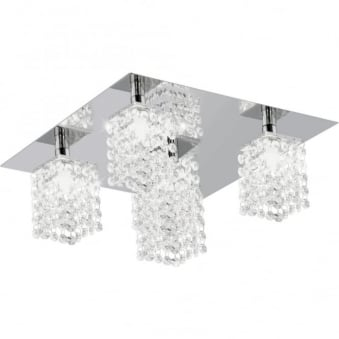 Pyton Five Drop Crystal Ceiling Light