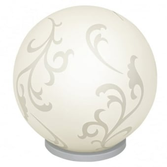 Rebecca Small Opal White Glass Globe Table Light