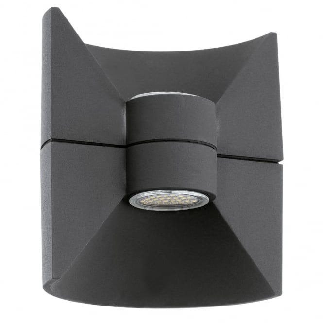 Eglo Redondo Black Cube LED Exterior Up and Down Wall Light