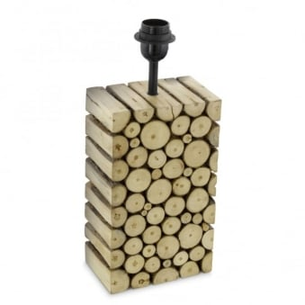 Ribadeo End Cut Wooden Table Lamp