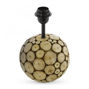 Ribadeo Round Wooden Table Lamp