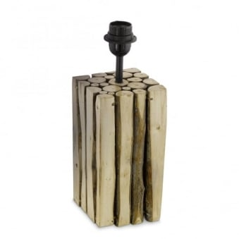 Ribadeo Small Wooden Table Lamp