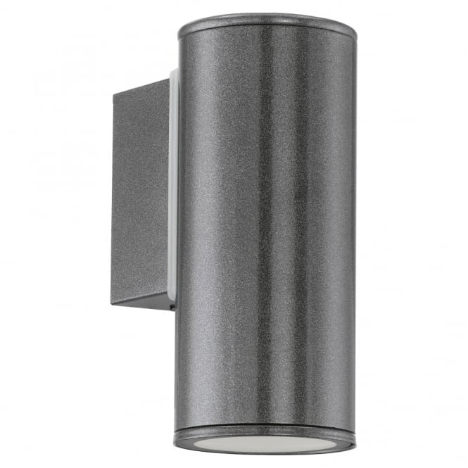 Eglo Riga IP44 Exterior Down Wall Light in Anthracite