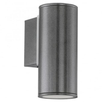 Riga IP44 Exterior Down Wall Light in Anthracite