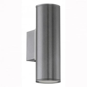 Riga IP44 Exterior Up and Down Wall Light in Anthracite